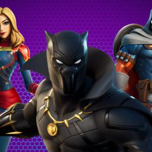 Black Panther et Captain Marvel rejoignent Fortnite