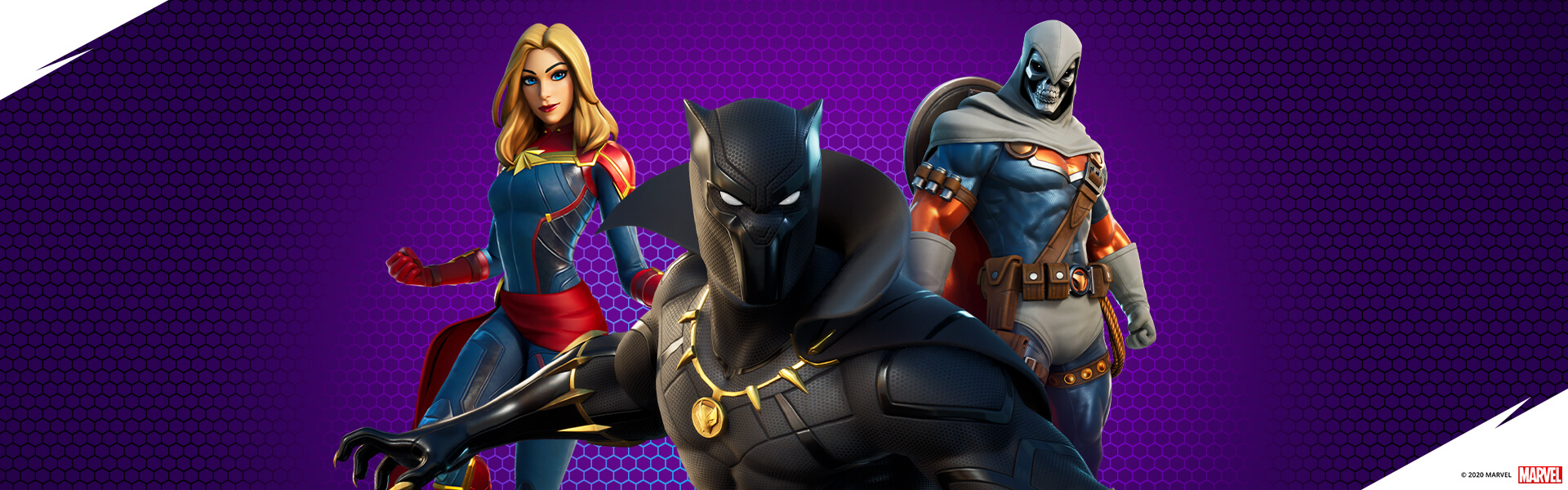 Black Panther et Captain Marvel rejoignent Fortnite