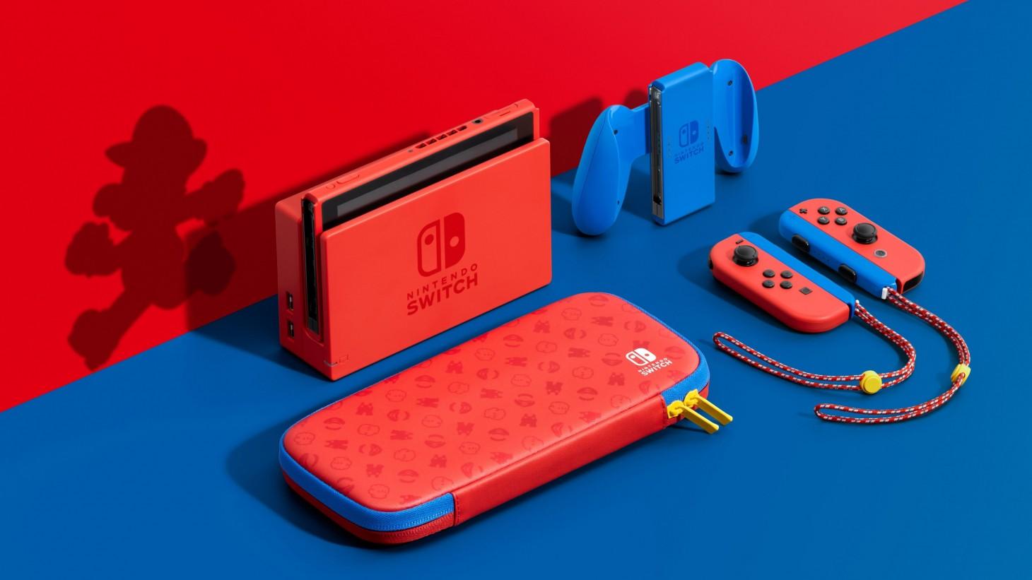 La nouvelle console Nintendo Switch dévoilée avec l'édition Rouge et Bleu