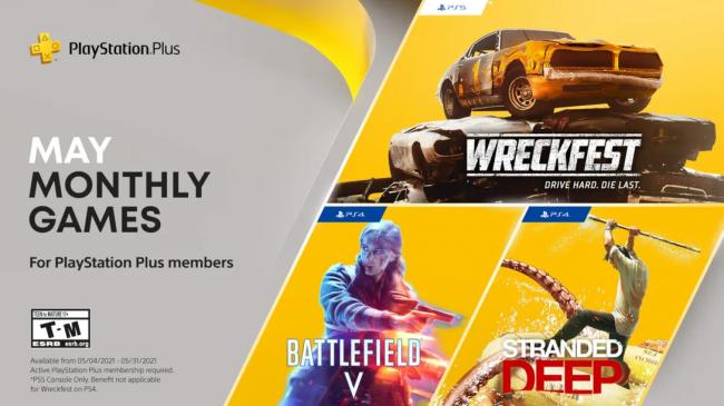 PlayStation Plus propose Battlefield 5 et Wreckfest en mai