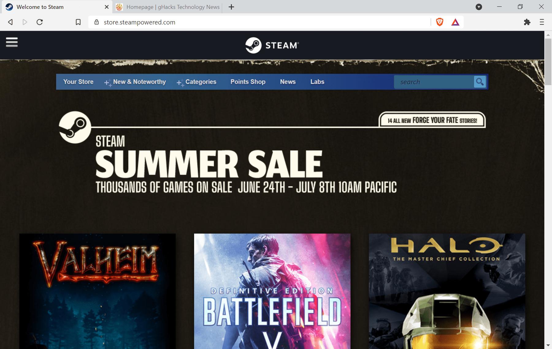 Les soldes d'été Steam ont des offres sur des milliers de jeux